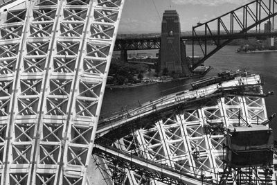 2006/25/1-105 Photographic print, black & white, construction of Sydney Opera House, Max Dupain, Sydney, New South Wales, Australia, July 1965