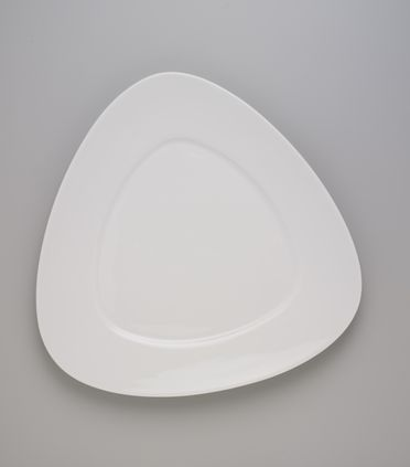 2007/37/1-2 Plate, 'Triangolo', slip-cast porcelain, designed by Roderick Bamford, Sydney, New South Wales, Australia, made by Monno Ceramic Industries, Bangladesh, for Manfredi Enterprises, Sydney, New South Wales, Australia, 2006