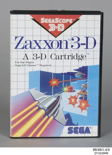 99/49/1 Sega Master System 3-D glasses/ instruction manual/ Zaxxon 3-D game, boxed, plastic, Sega, Japan, 1986-1989