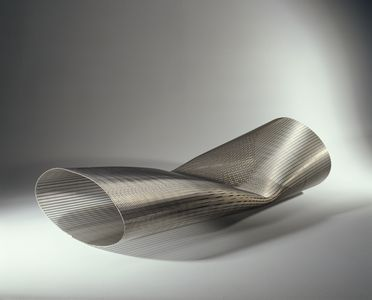 2003/199/1 Chaise longue, 'Membrane', metal, designed and made by Janos Korban / Stefanie Flaubert, Sydney, New South Wales, Australia, 1998-2003