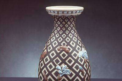2858 Vase, stoneware, decorated by Harry Barnard, Doulton & Co, Lambeth, England, 1882