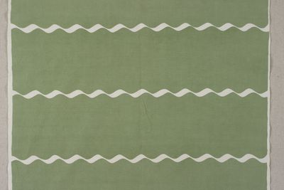 85/2251 Fabric length, cotton, 'Waved Stripe', screenprinted, Frances Burke Fabrics Pty Ltd, Melbourne, Victoria, Australia, 1950