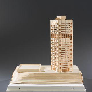 2014/3/1 Architectural model, Blues Point Tower, 1:200 scale, Blues Point Tower was designed by Harry Seidler and completed in 1962, model made by Angela Rowson / Kegan Tom, Australia, 2006