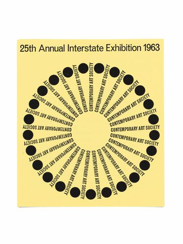 90/491-1 Exhibition catalogue, 'Contemporary Art Society 25th Annual Interstate Exhibition', designed by Alistair Morrison, printed by Edwards & Shaw, Sydney, New South Wales, Australia, 1963