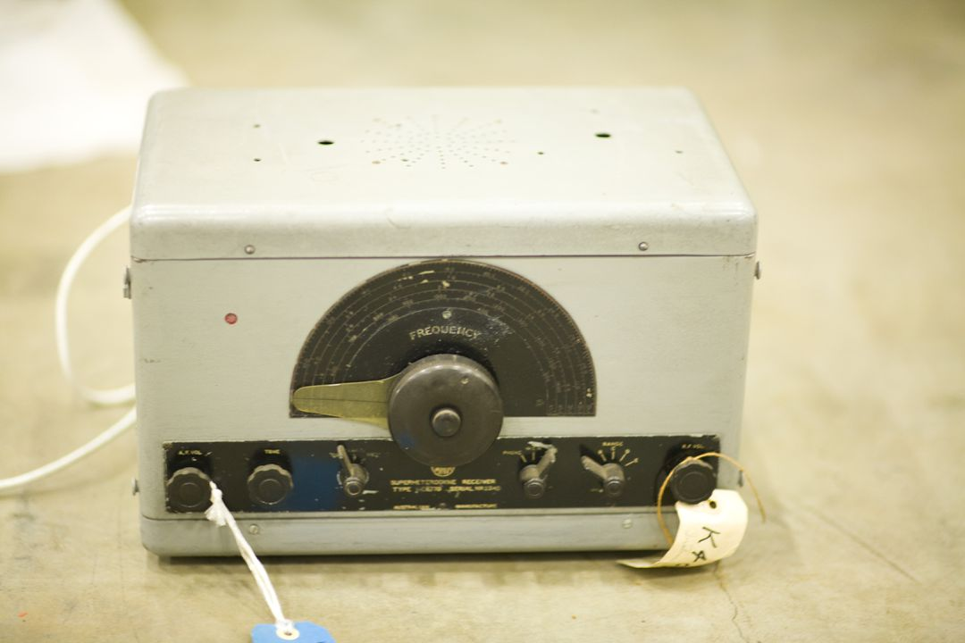 K409-3/1 Radio receiver, part of collection, Superheterodyne Receiver Type I-C6770, Serial No. 2240, metal / electronic components, Amalgamated Wireless Australiasia Ltd (AWA), Sydney, New South Wales, Australia, c. 1940. Click to enlarge.