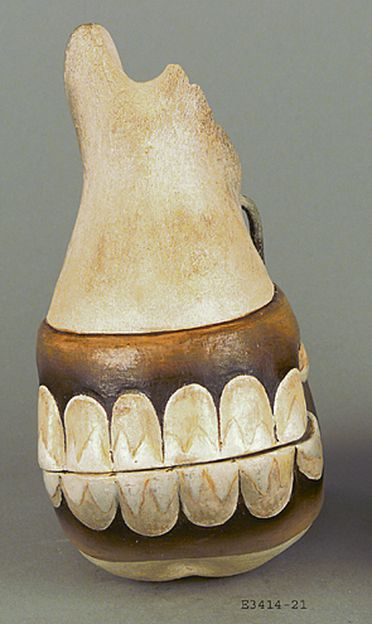 E3414-21/1 Cast, '22. Jaws of Horse', from set of horse teeth, plaster / paint, maker unknown, Sydney, Australia, date unknown