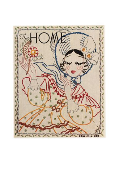 92/191-19/15 Proof, colour print, embroidery design, paper, designed by Dahl Collings for 'The Home' magazine, vol 16, no 9, Sydney, New South Wales, Australia, published 2 September 1935