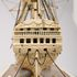 Image 15 of 46, H5217 Ship model in case, 72 gun French Frigate warship, possibly representing the 74 gun 'Le Heros', bone / wood / perspex, made by a Napoleonic prisoner-of-war, c. 1800. Click to enlarge