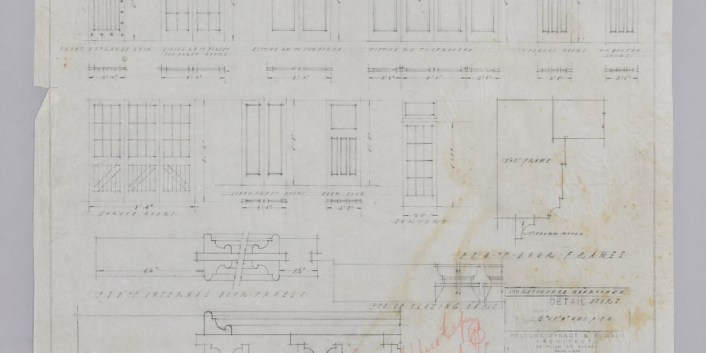 door pencil drawing easy pencil drawing door details residence mrs ware wahroonga prevost synnot ruwald no date wahroonga