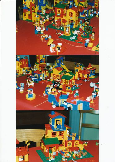 2012/147/1 Collection of construction toys with catalogues (7) and storybooks (4), 'Fabuland', most with original packaging, plastic / cardboard / paper / metal, made by The LEGO Group, Denmark, 1980-1988, used by Imogen Cortis-Jones, New South Wales, Australia, 1984-1994