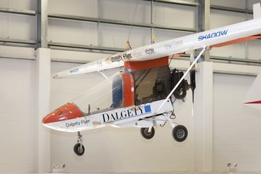 89/262 Aircraft and parts, ultralight, CFM Shadow, 'Dalgety Flyer', fibrelam / plywood / aluminium, designed by David Cook, made by Metalfax Ltd, Leiston, Suffolk, England, 1987, flown from England to Australia by Brian Milton in 1987-1988