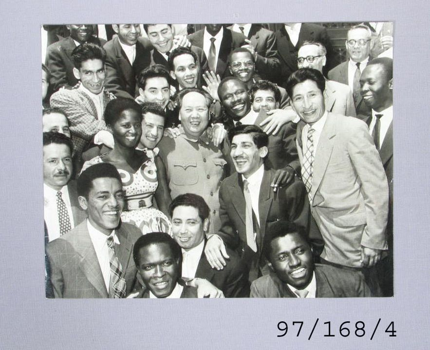 97/168/4 Photograph, 'We have friends all over the world', paper, Hou Bo, China, 1959. Click to enlarge.