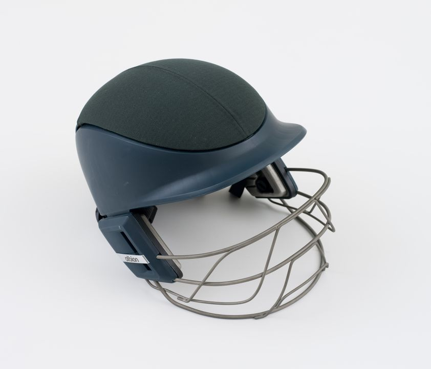 2009/4/1 Cricket helmet, 'Albion NXT', metal / plastic / textile, designed by Design + Industry and Albion Hat and Cap Company, made by Albion Hat and Cap Company, Sydney, New South Wales, Australia, 2007. Click to enlarge.