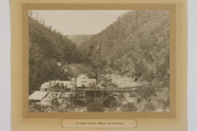 P2400-2 Enlarged photograph, 'Sunlight Gold Mine, Hillgrove, New South Wales', paper with cloth backing, Hillgrove, New South Wales, Australia, c 1900, printed by W. A. Gullick, Government Printer, Sydney, 1906