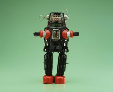 85/2573-37 Toy robot, 'Planet Robot - Robby', tin plate, made in Japan, 1956-1960