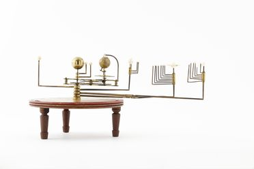 H1700-2 Orrery (1 of 2), planetary, wood / brass / ivory, W.Harris & Co, England, 1789- c.1805