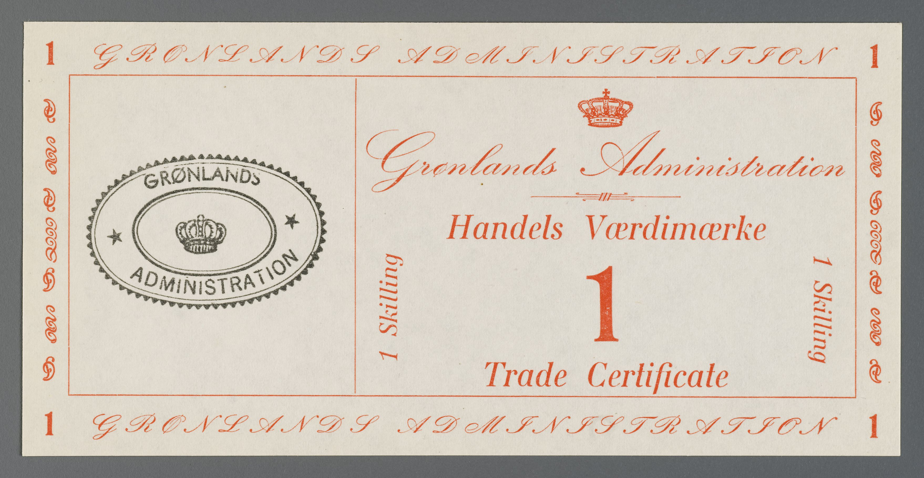 Trade Certificate From Greenland Maas Collection