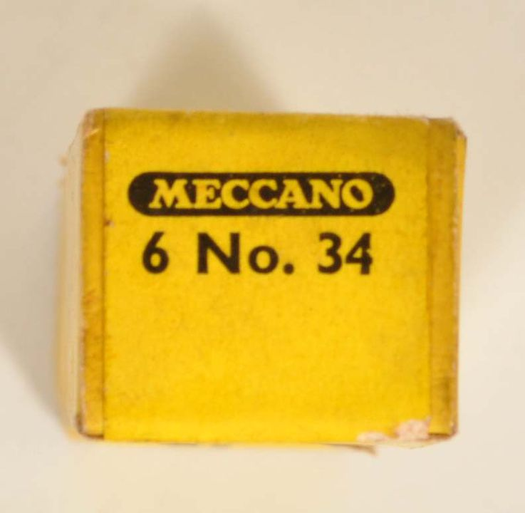 2013/120/19 Spanners (6) in original sealed box, No. 34, 12146, made by Meccano Ltd, Liverpool, England, c.1950s. Click to enlarge.