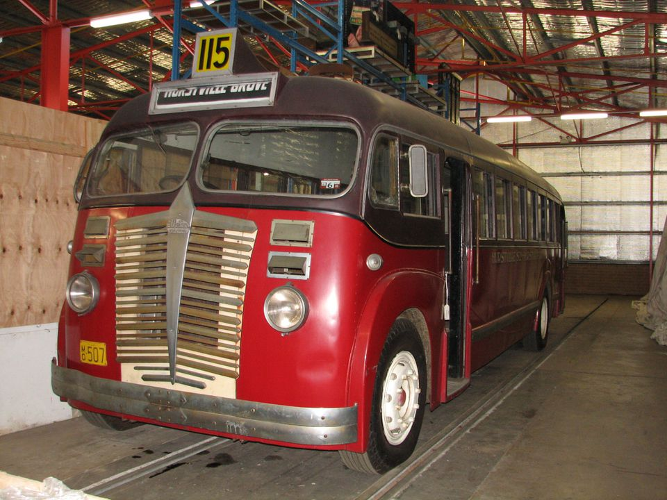 Albion Valkyrie CX13 bus, 1947, used at Hurstville, NSW - MAAS
