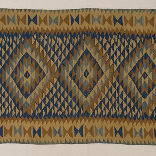 2004/136/5 Sarkoy kilim, wool, tapestry weave, Thrace, Western Turkey, 1880-1910