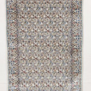 2002/65/1 Carpet, handknotted, silk, woven by Haj Reza at the Zomorod Carpet workshop, Nain, Iran, 1990 - 1995