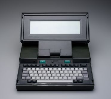 2007/49/1 Dulmont Magnum laptop computer and accessories, plastic / metal / glass / electronic components, designed and made by Dulmont Electronic Systems Pty Ltd, Sydney, New South Wales, Australia, 1985