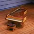 Image 2 of 23, 99/88/1 Grand piano with cover, Huon pine / King William pine / casuarina / metal, Stuart & Sons, Newcastle, New South Wales, Australia, 1998-1999. Click to enlarge