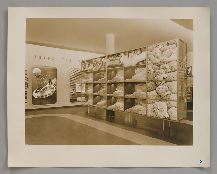 2008/100/1-2 Photograph (1 of 10), Australian Pavilion, New York World's Fair 1939, photographed by Robert E. Coates, New York City, New York, United States of America, for the architectural firm Stephenson & Turner, Sydney, New South Wales, Australia, 1939. Click to enlarge.
