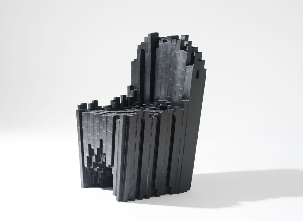 2012/127/1 Chair, 'Ray Chair', polyurethane foam, designed by Antonio Pio Saracino, made by FoamTek, Italy / United States of America, 2010. Click to enlarge.