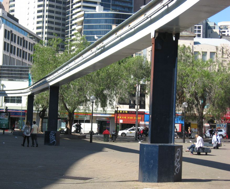 Sydney Monorail track and stanchions - MAAS Collection