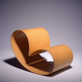 89/409 Chair, 'Peanut', laminated craftwood, designed by Marc Newson, made by Eckhard Reissig, Sydney, 1988