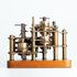 Image 1 of 6, 96/203/1 Calculating engine, specimen piece, with instructions and engraving, 'Difference Engine No1', bronze / steel / wood / paper, designed by Charles Babbage, parts made by Joseph Clements, assembled by Henry Provost Babbage, England, 1822-1879. Click to enlarge