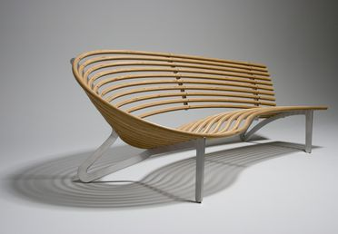 2005/182/1 Seat, 'Leda seat', plywood / aluminium, designed by Jon Goulder, Sydney, New South Wales, Australia, 2003, made by Jon Goulder and CNC Industries, Australia, 2004