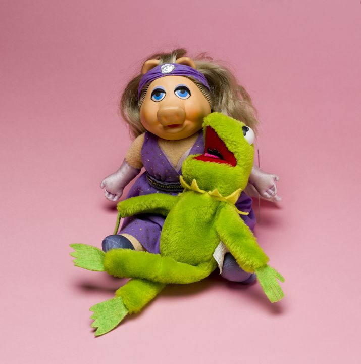 Toy, Muppet, Kermit the Frog, cloth/paper/nutshell, designed
