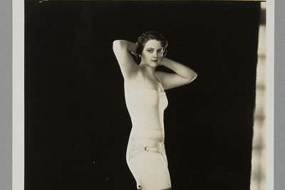 P3645-41/7 Photographic print, black & white, model wearing Berlei girdle, Berlei Ltd, Sydney, New South Wales, Australia, c. 1930