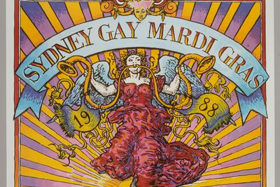95/339/10 Poster, 'Sydney Gay Mardi Gras 1988', colour offset on paper, designed by David McDiarmid, Sydney, New South Wales, Australia, 1988
