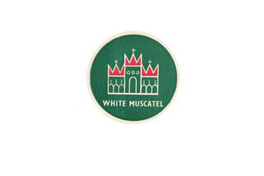 90/58-1/30/5/5/1 Label, White Muscatel, paper, designed by Douglas Annand for Bodega Wine Cellars, Sydney, New South Wales, Australia, c. 1941