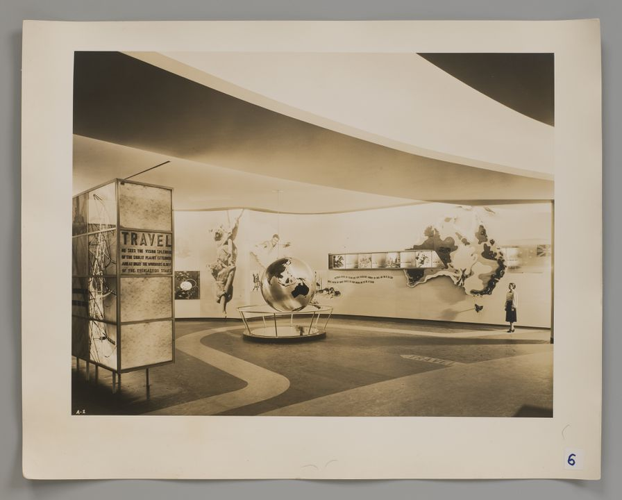 2008/100/1-5 Photograph (1 of 10), Australian Pavilion, New York World's Fair 1939, photographed by Robert E. Coates, New York City, New York, United States of America, for the architectural firm Stephenson & Turner, Sydney, New South Wales, Australia, 1939. Click to enlarge.