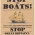 Image 2 of 2, 2016/47/10 Posters (2), 'Stop the boats!', paper / ink, designed and made by Peter Drew, Adelaide, South Australia, 2016. Click to enlarge