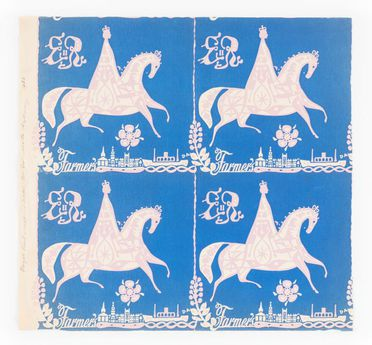 90/58-1/16/26 Wrapping paper, Queen Elizabeth II motif for royal visit theme, paper, designed by Douglas Annand for Farmers department store, Sydney, New South Wales, Australia, 1953-1954