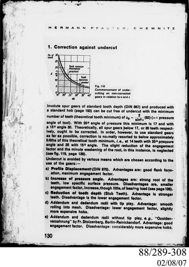 88/289-308 Photographic glass plate negative, engineering drawing of gear corrections, Clyde Engineering Pty Ltd, Australia, 1900-1950