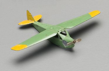 2008/158/1-9 Toy aircraft (1 of 8), Dinky De Havilland Leopard Moth (60b), Dinky Toys, metal, made by Meccano Ltd, Liverpool, England, 1934-1936, used by Wyatt family in Tasmania and Roseville, New South Wales, Australia, 1935-1965