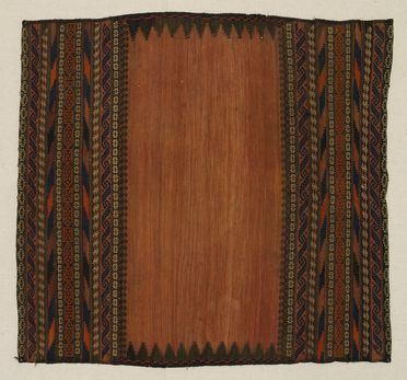 2010/33/2 Flatweave eating mat or soffreh, wool, hand woven by Baluchi woman in eastern Iran or north western Afghanistan, c.1920