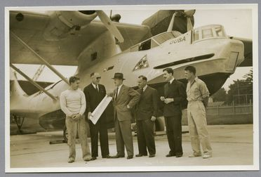 85/112-42 Photograph, black and white, the Catalina flying boat 'Guba' on the slips, paper, photographer unknown, Rose Bay, New South Wales, Australia, 1939