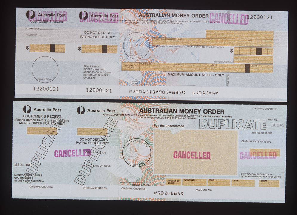 Postal Notes And Money Orders 8 Paper Reserve Bank Of Australia 1950 1970 Maas Collection