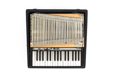 2021/70/12 Keyboard Instrument, 'Rhodes Piano Bass', timber / plastic / metal / rubber, designed by Harold Rhodes, made by CBS Fender, California, United States of America, 1967