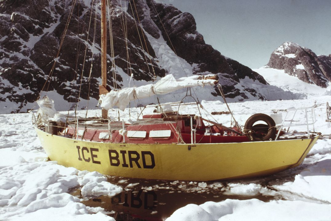 B2449 Yacht and parts, full size, sloop 'Ice Bird', steel / plastic / timber, designed by Dick Taylor, Sydney, New South Wales, Australia, 1962, sailed by Dr David Lewis to Antarctica 1972-1974. Click to enlarge.
