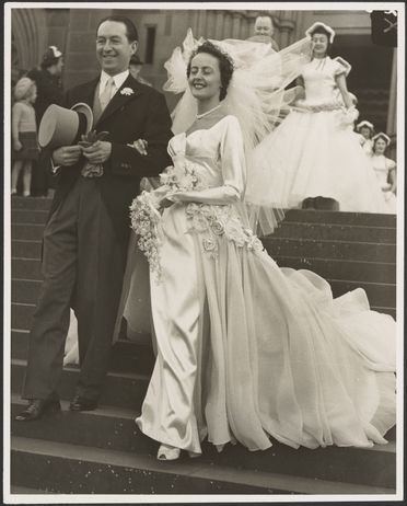 2003/59/1-10 Photograph, part of collection, black and white print, wedding of Dr Bob McInerney and Betty Rose Storman, paper, Sydney Morning Herald, Sydney, New South Wales, Australia, 1952