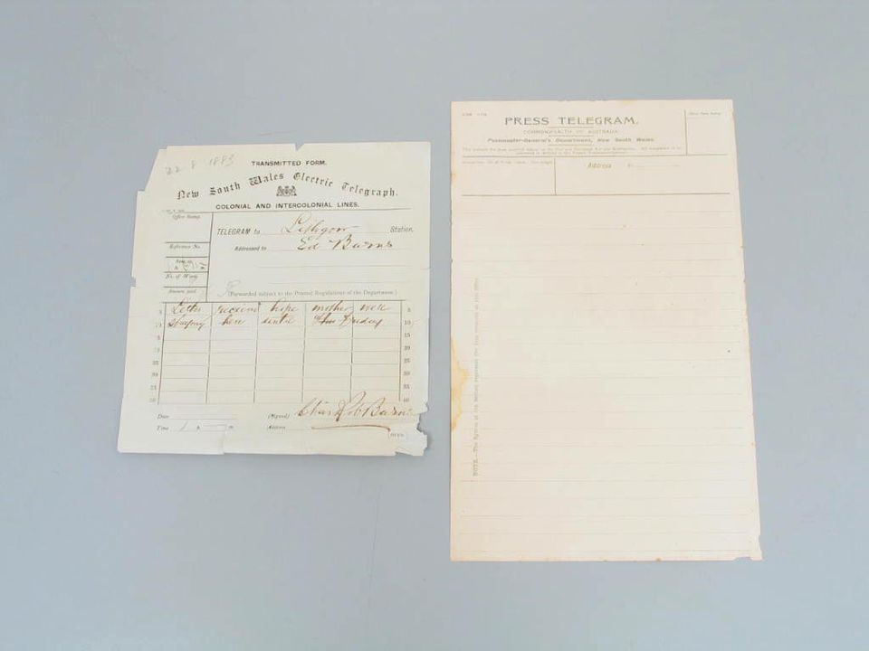 98/2/78 Collection of telegram forms and stationery, paper / ink, Australian Post Office / Postmaster Generals Department, Australia, 1883-1987. Click to enlarge.