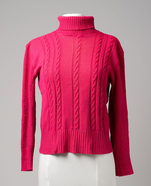 2005/90/6 Jumper, womens, polyester, worn by Beatrice Bush, White Bay, New South Wales, Australia, made by Rotson, [China / Taiwan], [1980-1990]. Click to enlarge.